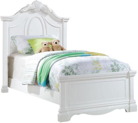 Acme Furniture Estrella 30240T Bed White, Angled View
