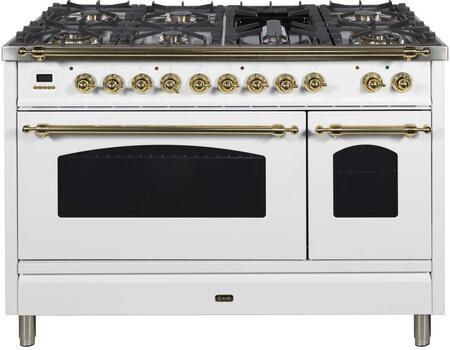 Ilve Nostalgie UPN120FDMPB Freestanding Dual Fuel Range White, UPN120FDMPB Nostalgie Range