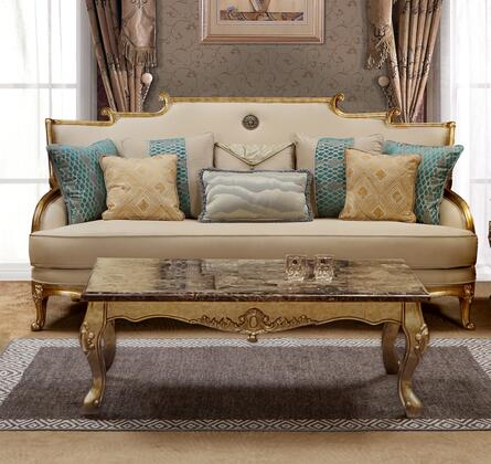 Majestic Collection 3035BGMAJ Transitional Style Sofa In Gold Finish