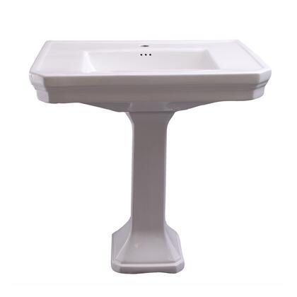 3-3011WH Corbin Rectangular Pedestal Lavatory  White-1