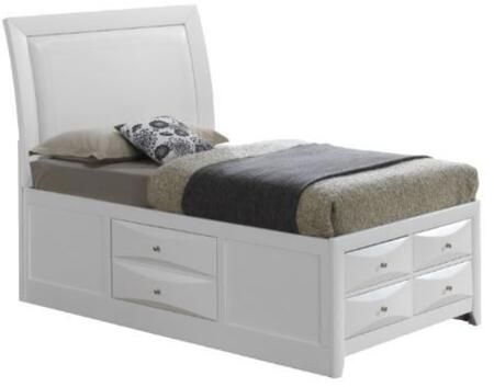 Glory Furniture Omega G1570ITSB4 Bed White, Main View