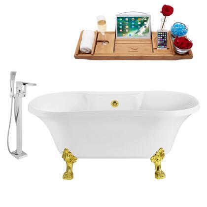 Streamline NH100GLDGLD100 Bath Tub, NH100GLD GLD 100 1T