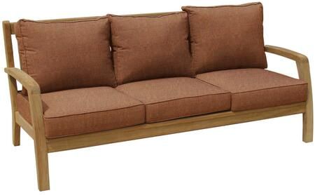 Douglas Nance Somerset DN2303CHILI Outdoor Patio Sofa Brown, DN2303CHILI Main Image