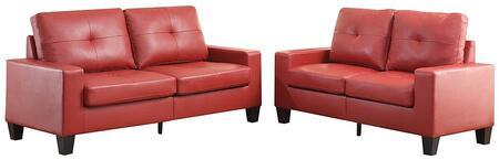 Acme Furniture Platinum II 52745 Living Room Set Red, 2 PC Set