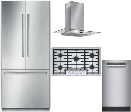 Bosch Benchmark  975382 Kitchen Appliance Package Stainless Steel, main image