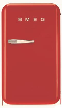 Smeg 50s Retro Style FAB5URR Compact Refrigerator Red, Front View