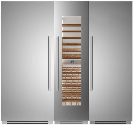 Bertazzoni  1309164 Column Refrigerator & Freezer Set Stainless Steel, 1