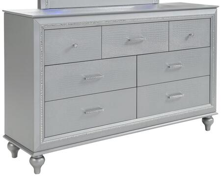 Myco Furniture Vincent VN400DR Dresser Silver, Main view