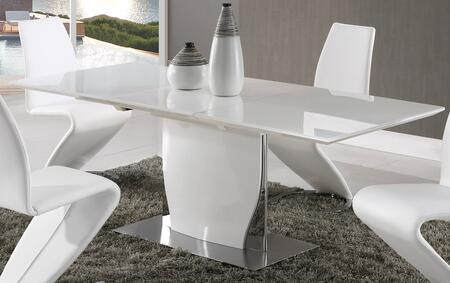 Global Furniture USA D2279 D2279DT Dining Room Table White, Main Image