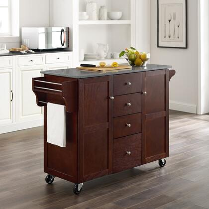 KI104ESPAB Ki104Espab Alanis Kitchen Cart  With Rich Espresso Finish  Two Large Compartments Each With Slide Out Shelf And Two Drawers Feature Cube