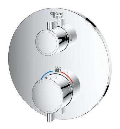 Grohtherm 24133000 Dual Function 2-Handle Thermostatic Trim  in