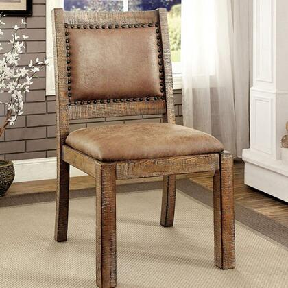 Furniture of America Colette CM3829RASC2PK Dining Room Chair Brown, Main Image