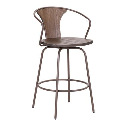 Armen Living Payton LCPYBAWABR30 Bar Stool Brown, LCPYBAWABR30 side