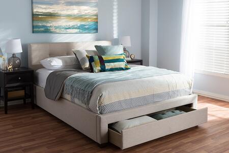 Baxton Studio Brandy CF8774BEIGEQUEEN Bed Beige, CF8774 Beige Queen 10