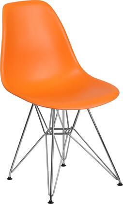 Flash Furniture Elon FH130CPP1ORGG Accent Chair Orange, FH 130 CPP1 OR GG