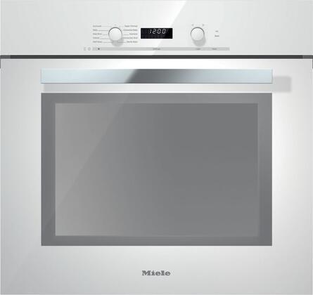 Miele DirectSelect H6280BPBRWS Single Wall Oven White, Main Image