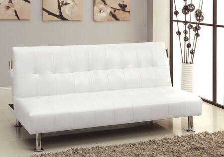 Furniture of America Bulle CM2669PWH Futon White, Main Image