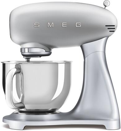 SMF02SVUS 16″ 50's Retro Style Aesthetic Stand Mixer with Stainless Steel Bowl  Lever Control and 600 Watts Motor in