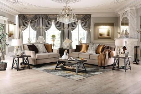 Furniture of America Camilla SM2681SFSET Living Room Set Beige, Living Room Set
