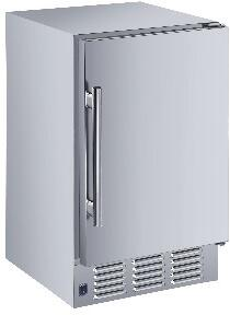MIM25-O 15″ Outdoor Compact Ice Maker with 22 lbs. Daily Ice Production  12 lbs. Storage Bin and Automatic Overflow Prevention in Stainless