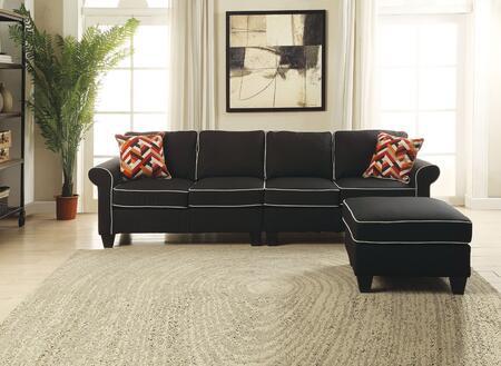 Acme Furniture Kelliava 5424044 Sectional Sofa Black, 1