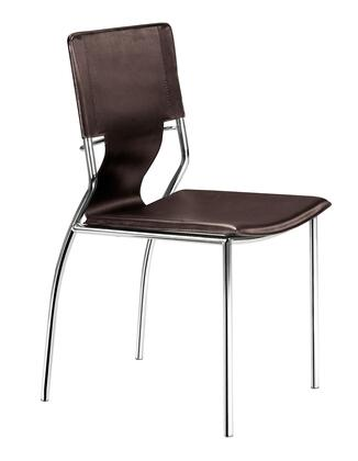 Zuo Trafico 404133 Dining Room Chair Brown, 404133 1