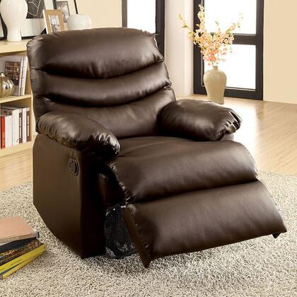 Furniture of America Plesant Valley CMRC6928BR Recliner Chair Brown, Main Image
