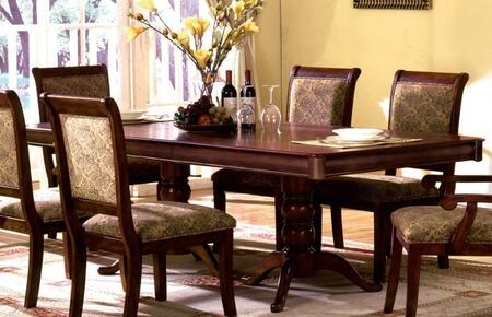Furniture of America St. Nicholas I CM3224TTABLE Dining Room Table Brown, Main Image