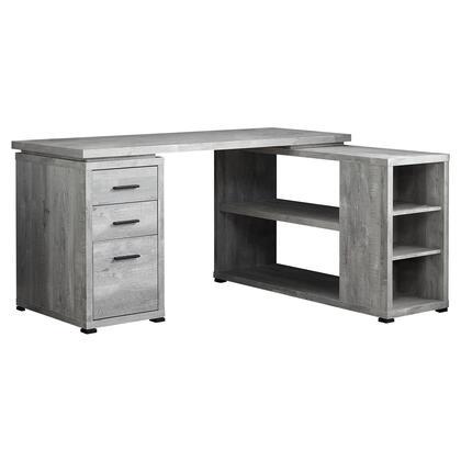 I 7421 Computer Desk – Grey Reclaimed Wood L/R Facing