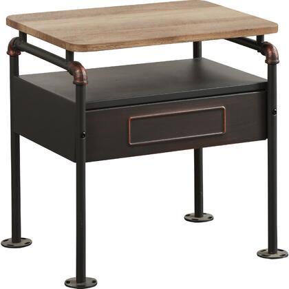 Acme Furniture Nicipolis 30737 Nightstand Brown, Angled View