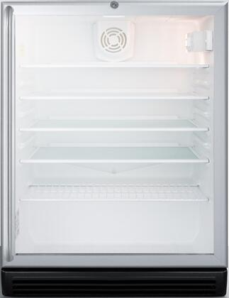 """SCR600BGLBISHADA 24"""" ADA Compliant Beverage Center with 5.5 cu. ft. Capacity Double Pane Tempered Glass Door Automatic Defrost and Adjustable Glass"""