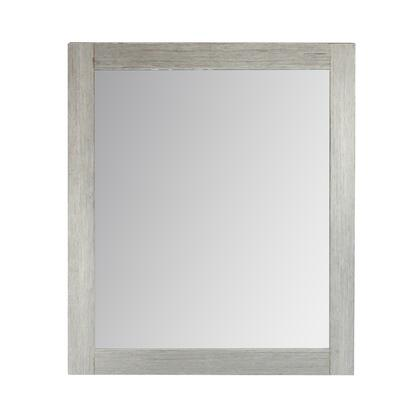 808130-M-24 24″ Rectangle Wood Frame Mirror In Gray Pine