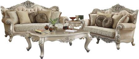 Acme Furniture Bently 506603SET Living Room Set Beige, 3 PC Set