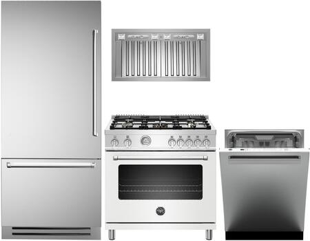 Bertazzoni  1000212 Kitchen Appliance Package Stainless Steel, main image