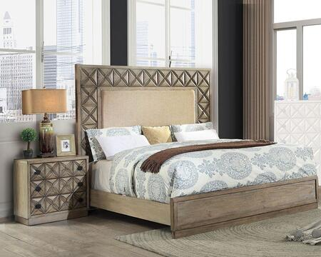 Furniture Of America Markos 2 Piece California King Size Bedroom Set