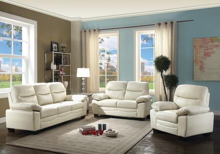 Glory Furniture G675SET Living Room Set White, 3 PC Set