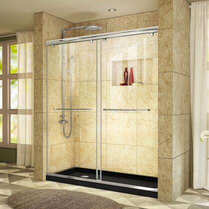 DreamLine DL6943L8801 Shower Door, Charisma Shower Door RS39 60 01 88B LeftDrain E