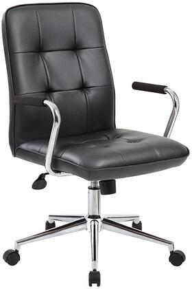 boss b331bk 36 inch modern office chair with chrome arms