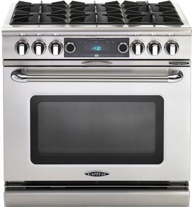 Capital Connoisseurian COB366L Freestanding Dual Fuel Range Stainless Steel, 1