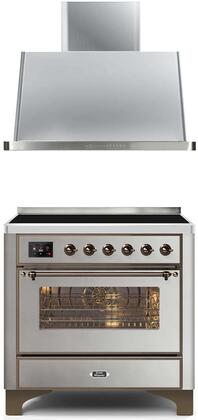Ilve Majestic II 1242415 Kitchen Appliance Package Stainless Steel, Main image
