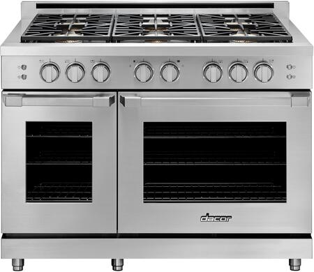 "Dacor Heritage HGPR48SNGH Freestanding Gas Range Stainless Steel, HGPR48SNGH 48"" Natural Gas High Altitude Freestanding Gas Range"