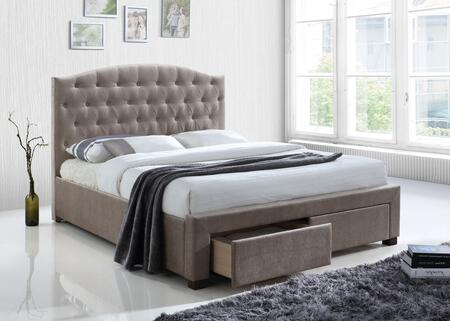 Acme Furniture Denise 25667EK Bed Gray, Lifestyle View