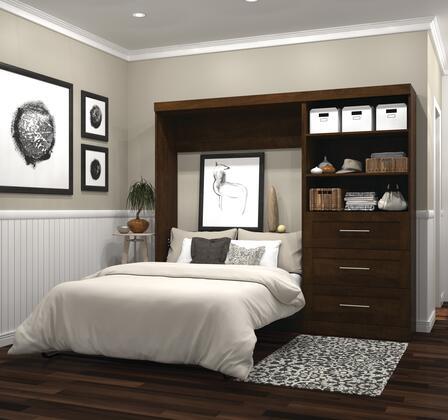 Bestar Furniture Pur Series 2689169 Bed Brown, Image 1