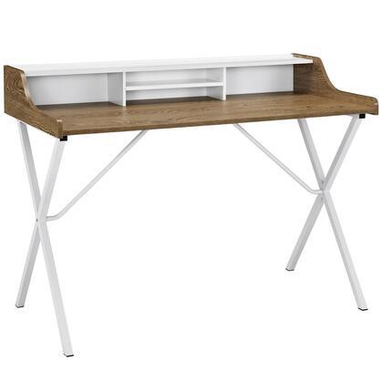Modway Bin Series EEI1327WAL Office Desk Brown, Office Desk