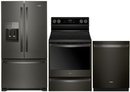 Whirlpool  995409 Kitchen Appliance Package Black Stainless Steel, Main Image