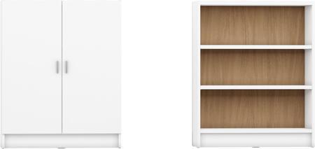 Manhattan Comfort Greenwich Venti 2.0 2160353160753 Bookcase White, 2 160353160753 A