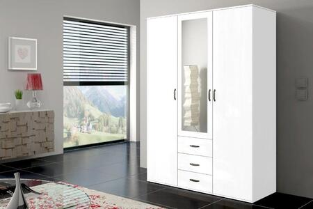 Orlando Collection ORLANDO47WHITE Wardrobe in White
