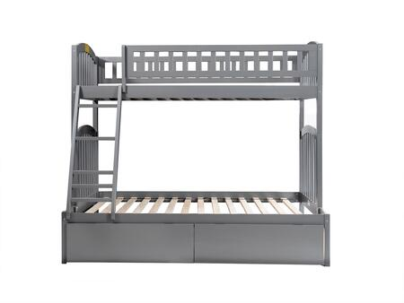 AB64249 Richland Bunk Bed Twin over Full with 2 Urban Bed Drawers in