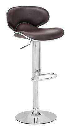 Zuo Fly Series 300133 Bar Stool Espresso, 300133 Front