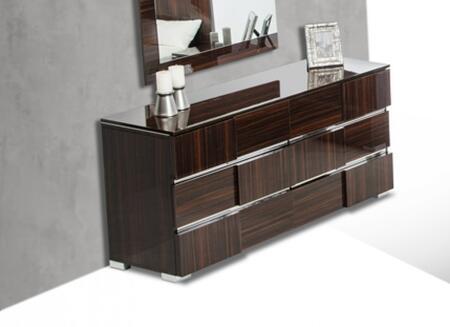 VIG Furniture Modrest Picasso Italian VGACPICASSODSREBNNOLED Dresser Brown, Dresser